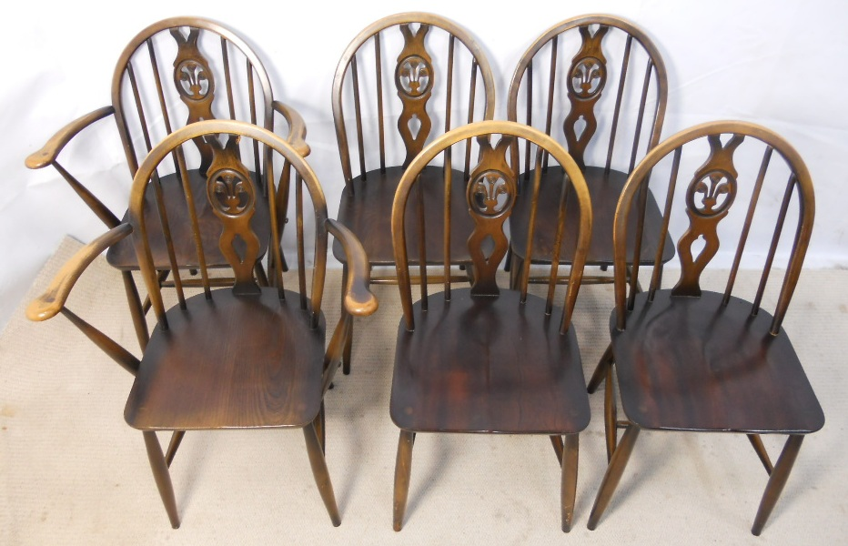 Set of Six Ercol Elm Stickback Kitchen Dining Chairs   SOLD. of Six Ercol Elm Stickback Kitchen Dining Chairs   SOLD